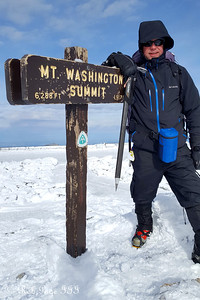 Scott at the summit of Mt. Washington - Gorham, NH ... January 27, 2018 ... Photo by Rob Page III