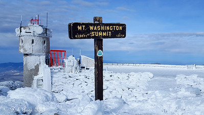 The summit of Mt. Washington - Gorham, NH ... January 27, 2018 ... Photo by Rob Page III