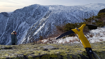Heather stares out at Tuckerman's Ravine - Gorham, NH ... January 27, 2018 ... Photo by Rob Page III