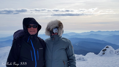Heather and Scott at the summit of Mt. Washington - Gorham, NH ... January 27, 2018 ... Photo by Rob Page III