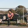 Hanging out at Doyle Field having some McDonalds is Jessy with Giada, 10, and Oliver, 6, Thursday November 5, 2020. SENTINEL & ENTERPRISE/JOHN LOVE