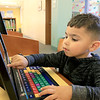 The Leominster Public Library childrens room is always a great place for kids to come and Learn, play and have fun. Lucas Colon, 3, plays a fun learning game on one of the computers they have in the Children's room on Thursday, January 3, 2019. SENTINEL & ENTERPRISE/JOHN LOVE