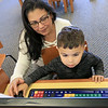 The Leominster Public Library childrens room is always a great place for kids to come and Learn, play and have fun. Lucas Colon, 3, gets help from his grandmother Vilmary Colon as he plays a fun learning game on one of the computers they have in the Children's room on Thursday, January 3, 2019. SENTINEL & ENTERPRISE/JOHN LOVE