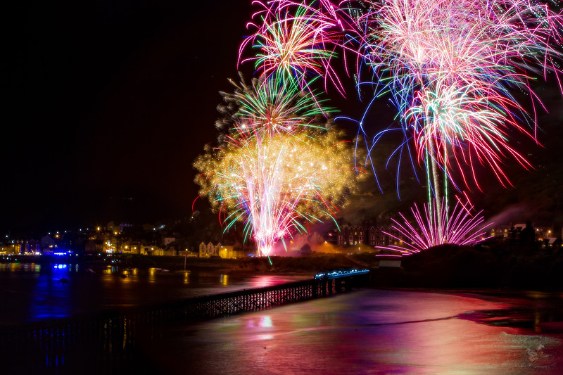 Barmouth Bridge Fireworks
