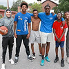 Tuesday in Leominster started out a little cold and rainy but by around 3:30 it was just right to play a little basketball at Bennett Park on South Cotton Street with friends. From left is Luis Lopez, 19, Malik Flowers, 19, Kevin Paul, 18, Joshua Sinous, 18, Elijah Myrthil, 13, and Rasheed Mauricette, 14. SENTINEL & ENTERPRISE/JOHN LOVE
