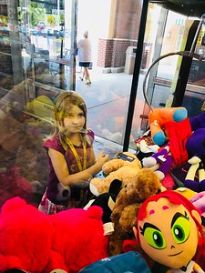 "Lexi at the ""Big"" Claw Machine"
