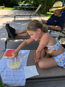 Lexi Loves to Eat by the Pool