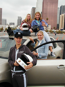 Four Russian tennis players at the Year End WTA Championship in Los Angeles, 2004