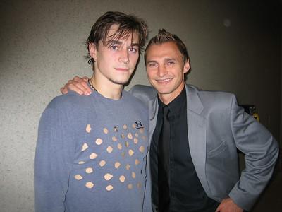 Sergei and Fedor Fedorov, Anaheim, 2005