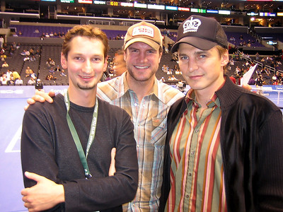 Alex with Sergei Fedorov and Kip Brennan at the WTA Year End Champs, Staples Center, LA, 2005