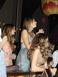 Maria Sharapova and friends at her 18th birthday party, NYC, 2005