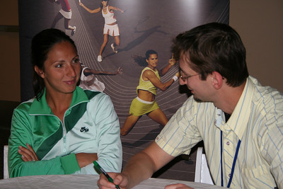 Alex with Anastasia Myslina, Indian Wells, 2006