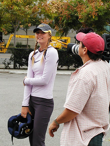 Maria Sharapova at the Year End WTA Championship in Los Angeles, 2004