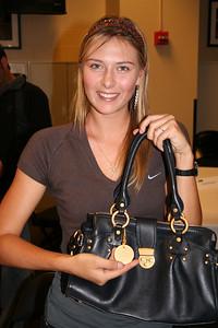 Maria Shapova at the 2005 WTA Champs, Staples Center, LA
