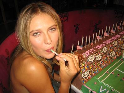 Maria Sharapova at her 18th birthday, NYC, 2005