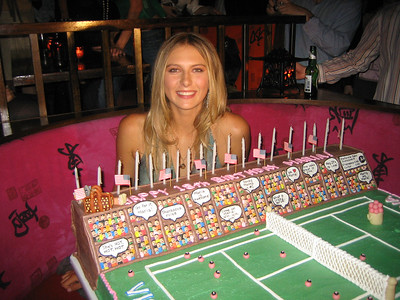 Maria Sharapova in NYC on her 18th birthday, 2005