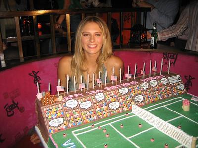 Maria Sharapova in NYC on her 18th birthday, 2005