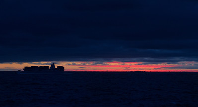 Just after sunset. St Kilda, Feb, 2013.
