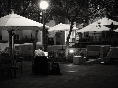 Studying into the night.  Melbourne Business School, Feb 2012.