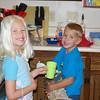 The kids make their own breakfast (7/4/08)