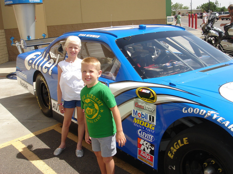 This was actually taken June 5. It's Ryan Newman's race car in the WalMart parking lot.