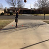 His own basketball drills in the driveway (3.6.14)