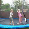 Jumping on the trampoline in the rain (5.15.09)