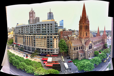 St Paul's and the Westin, Swanston St. Oct 2011