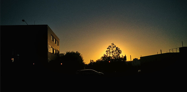 Back home late from work. Caught the last bits of sunset on my phone. Kinda makes up for it.