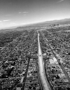 The road to Los Angeles  (photo aboard United Airlines flight near LAX)