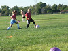 Second soccer practice/scrimmage, Sept. 2007