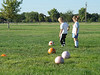 First soccer practice, Sept. 2007 (with Ashlyn Vineyard)