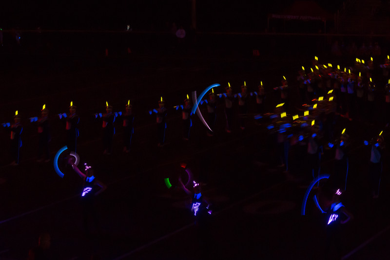 Jackson High School Marching Band - black light performance