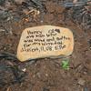 Ellie's gravestone for Henry (9.11.08)