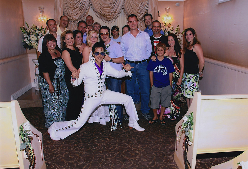 Went to watch some friends renew their vows at the Graceland Chapel in Vegas. July, 2011.