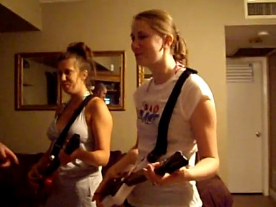 7-1-07 Fourth of July Party at the Benedetti's...Joey and Ang show the Guitar Hero Junkies how it's done.