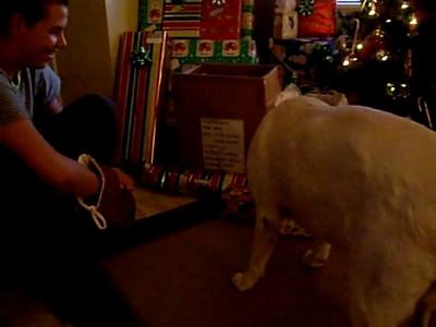 12-25-07 Tyson opens his stocking too
