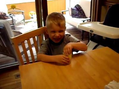 8/2007 Minnesota Trip. Jude showing his maturity. Oh wait, he's 4.