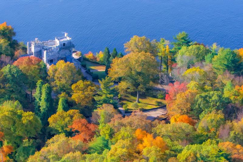 Aerial Shots CT River Foliage