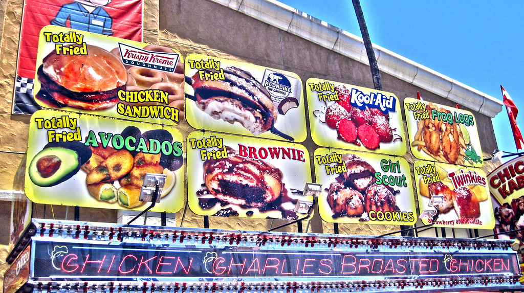 Week 25: Only in America. Heart attacks waiting to happen. At the San Diego County Fair, July 1, 2011.
