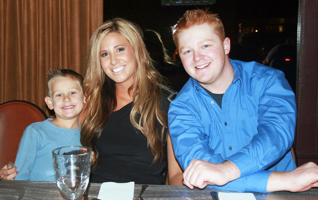 Week 45: Trav and Jill's rehearsal dinner at Phil's BBQ on November 18. The happy couple with Jill's cute nephew.