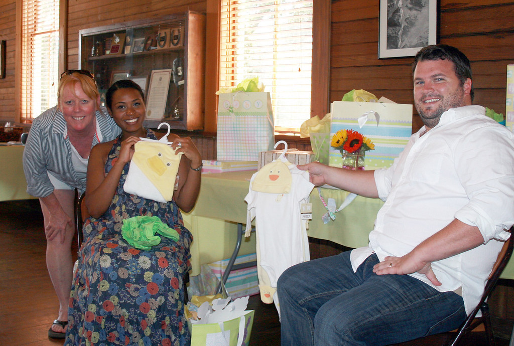 Week 38A: We have several new babies coming into the family. On Sep. 24, we celebrated a baby shower for cousins Daniel and Amina Wilson. Here's Lisa with the very excited couple.