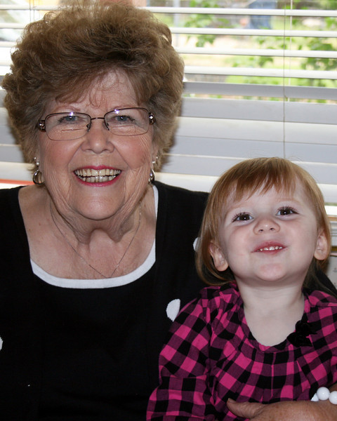 Week 19: Mother's Day. One mom left, and we all enjoyed celebrating Shirley. Here she is with great-granddaughter, Alyx Nicole.