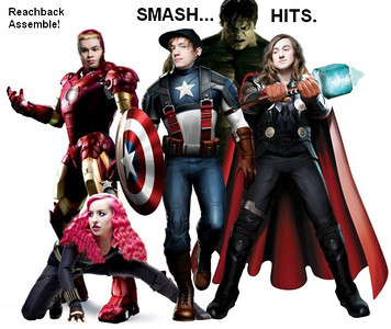 Reachback Photoshopped as the Avengers. First time I've ever tried something like this - OK for a first effort I think?