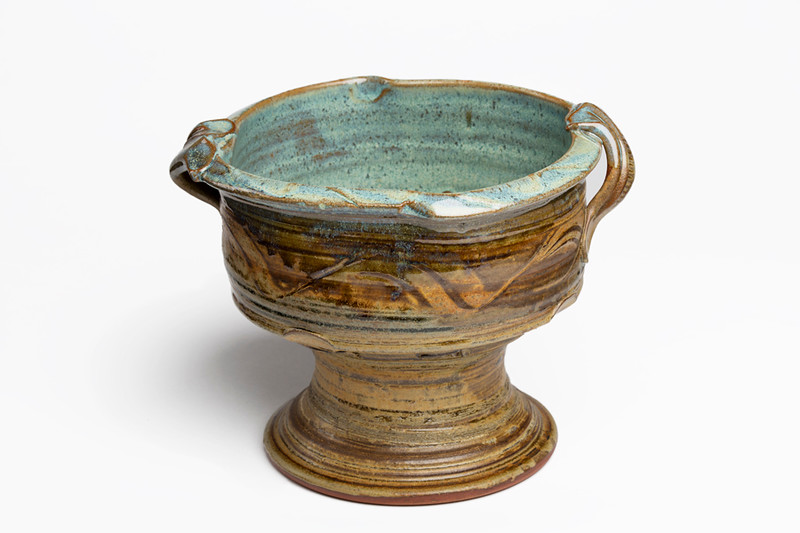 Footed Bowl With Handles