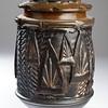 Textured Dark Storage Jar