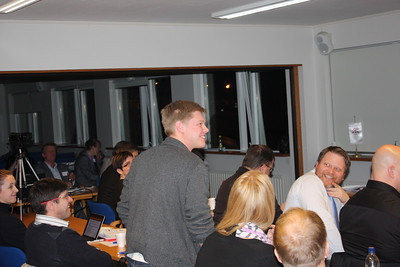 Formannafundur ÍSÍ, 23. nóvember 2012 í Íþróttamiðstöðinni í Laugardal. Gunnar Gunnarsson úr stjórn UÍA með fyrirspurn.