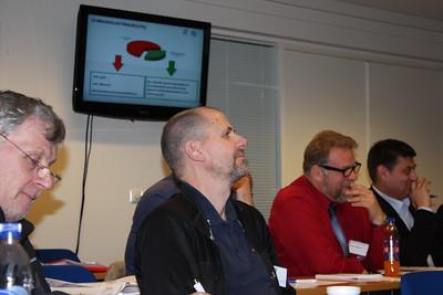 Formannafundur ÍSÍ, 23. nóvember 2012 í Íþróttamiðstöðinni í Laugardal. Jason Ívarsson formaður BLÍ, Guðjón Ingi Gestsson formaður SKY, Hörður Oddfríðarson formaður SSÍ og Valdimar Leó Friðriksson formaður UMSK.