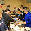 Firefighters hard at work making all the meals