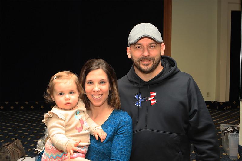 Jim wife Megan and Olivia Cameron